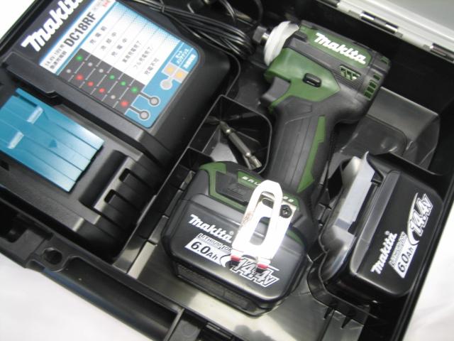 数量限定 マキタ充電インパクト TD161DRGXAPG(オーセンティックグリーン) 14.4V バッテリー(6.0Ah)2個・充電器(DC18RF)セット