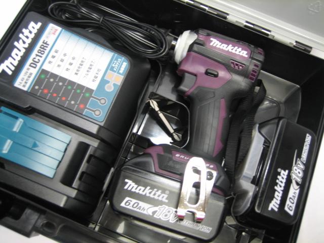 数量限定 マキタ充電インパクト TD171DRGXAP(オーセンティックパープル) 18V バッテリー(6.0Ah)2個・充電器(DC18RF)セット