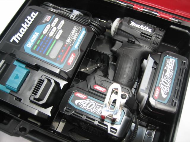 【新発売】マキタ充電式インパクト TD001GRDXB(黒) 40V バッテリー(2.5Ah)2個・充電器(DC40RA)セット
