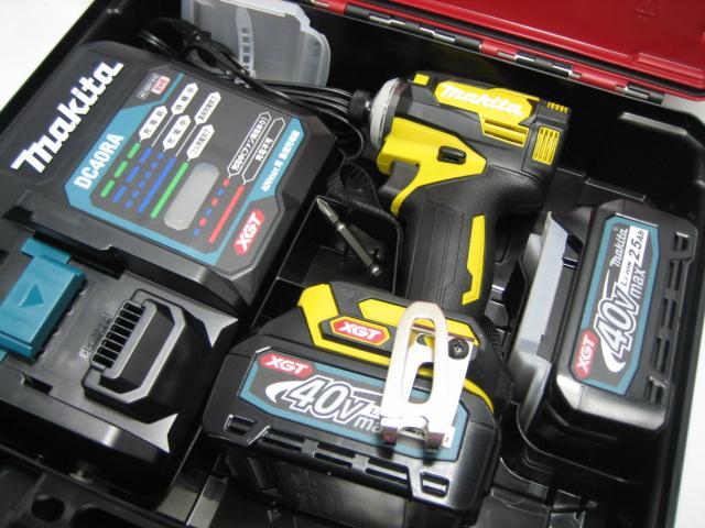 数量限定【限定色】マキタ充電式インパクト TD001GDXFY(フレッシュイエロー) 40V バッテリー(2.5Ah)2個・充電器(DC40RA)セット