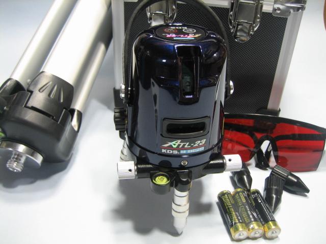 KDSレーザーレベル墨だし器  ATL-23 本体・三脚セット 1年保証付 縦・横・地墨