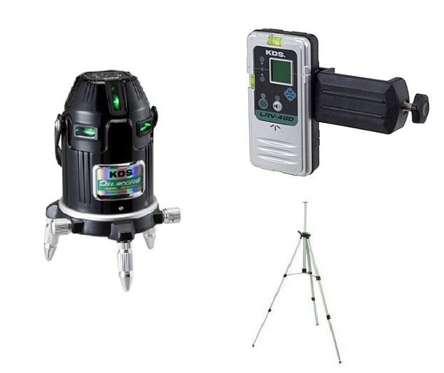 KDS リアルグリーンレーザー墨出器 DSL-900RGRSA 本体・受光器・三脚セット 1年保証付