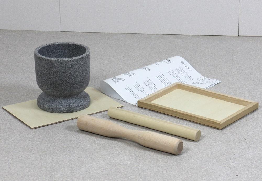 食べきり餅つきセット2合用 みかげ石 実演DVD付 炊飯器 お餅 餅つき 臼 杵