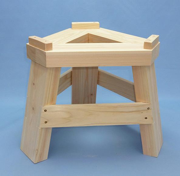 国産ひのき製もち臼木台(当社みかげ石もち臼1升用専用木台)