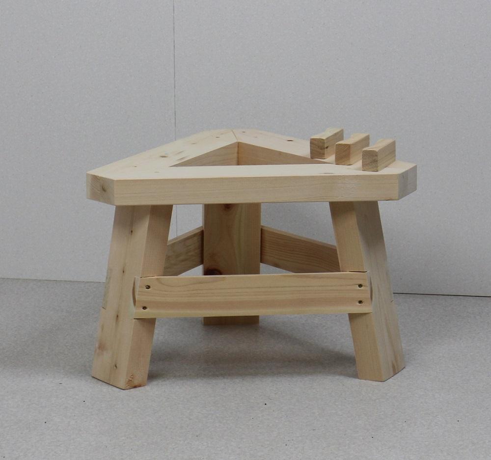 国産ひのき製もちつき用木台(ナガノ産業木製臼キネセット1.5升用専用)家庭用餅つき