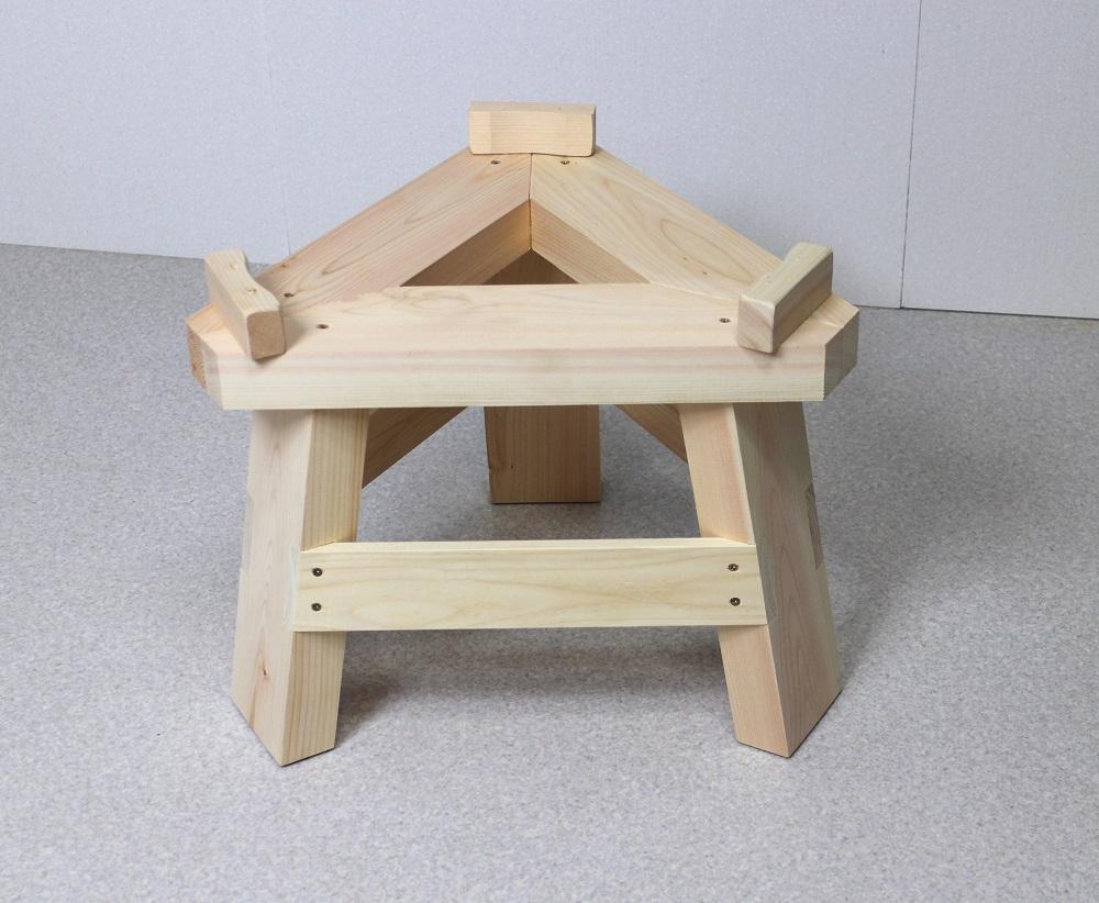 国産ひのき製もちつき用木台(ナガノ産業木製臼キネセット1升用専用)餅つき 家庭用