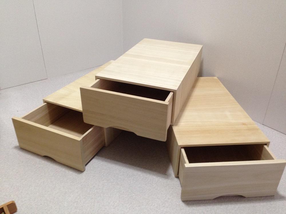 総桐 衣装箱 衣装ケース 引き出し収納 3段組 日本製【送料無料】
