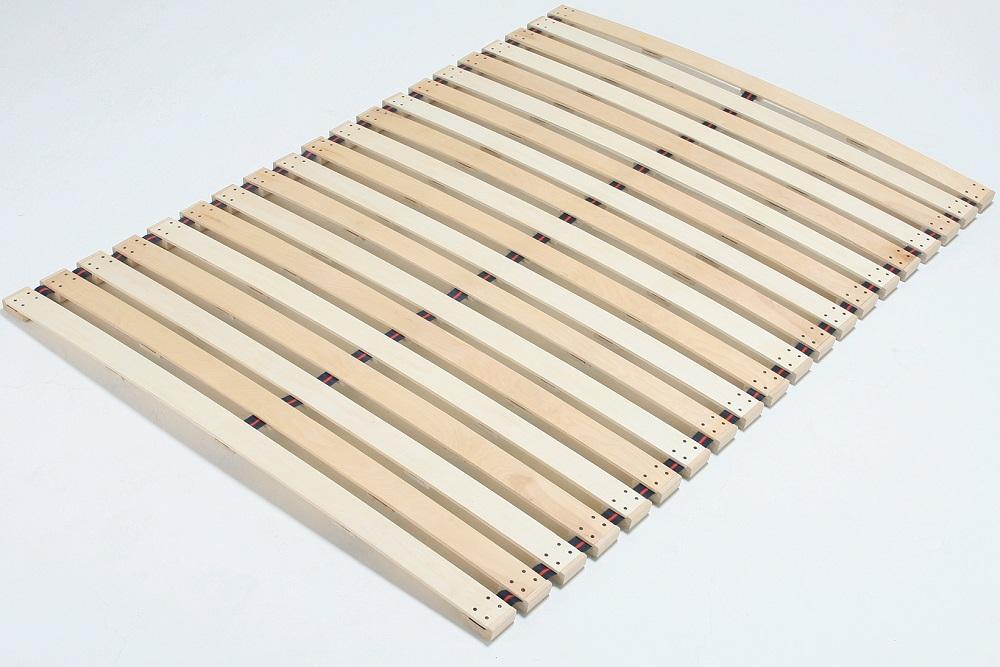 木製 すのこベッド ダブル すのこロールベッド スプリングタイプ ダブル140cm幅 ロール式【送料無料】【当社意匠登録済】