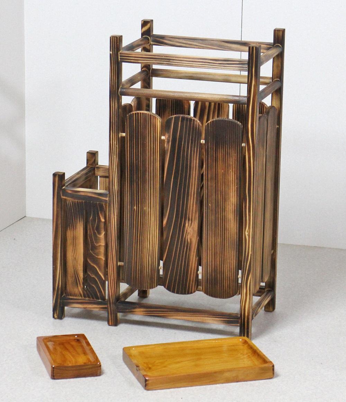 傘立て 木製 天然木製傘立て 二連タイプ 純和風 和室 傘 スタンド