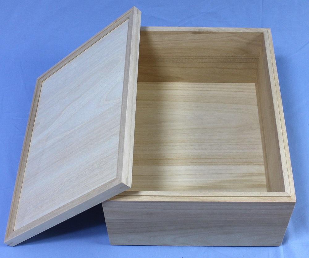 桐箱 小物入れ A3判 a3 たっぷりゆったり大容量タイプ 深型 桐収納 木箱 蓋つき