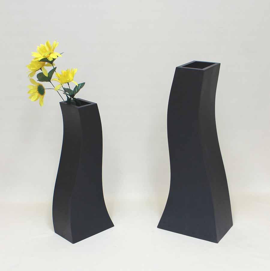 木製花器・造花台・フラワースタンド アーチスクエアタイプ2点セット