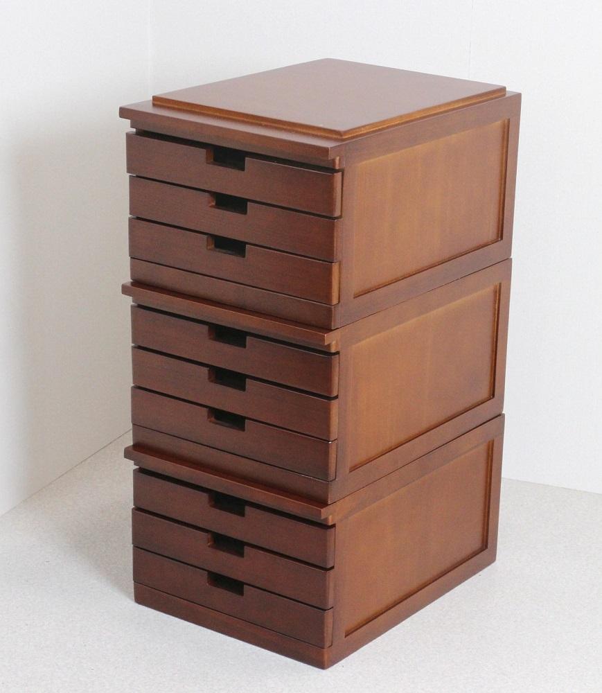 書類棚 書類収納 整理棚 3段引き出し B4用 【3段組】木製  他にもA3、A4サイズあり