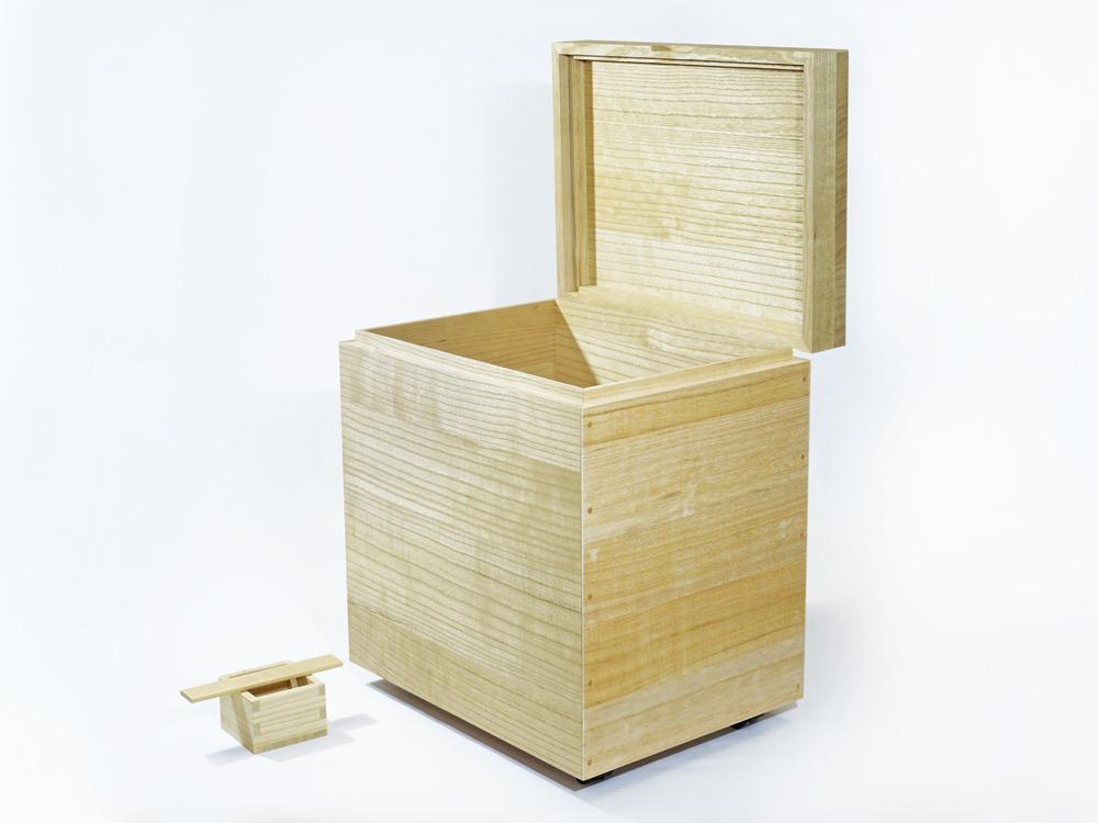 日本製 会津桐 本格桐米びつ 20kg用 キャスター付き 一合升付 奥会津産会津桐使用 米びつ 桐 高級 ライスストッカー