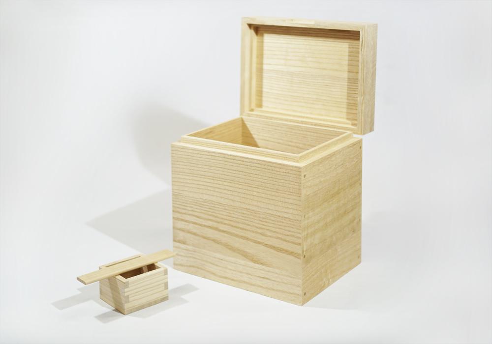 日本製 会津桐 本格桐米びつ 5kg用 一合升付 奥会津産会津桐使用