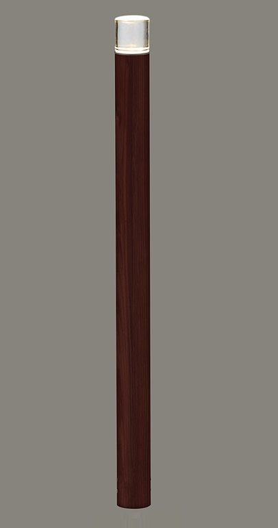 ★LIXIL 美彩 ローポールライト 丸形 透過型 H700 12V オータムブラウン/クリエダーク LED エクステリア照明 ★【送料無料】