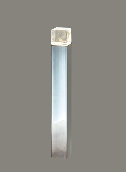 ★LIXIL 美彩 ローポールライト 角形 透過型 H400 12V シャイングレー/鏡面 LED エクステリア照明★【送料無料】