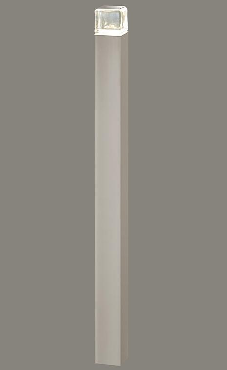★LIXIL 美彩 ローポールライト 角形 下配光型 H700 12V シャイングレー/シャイングレー LED エクステリア照明★【送料無料】