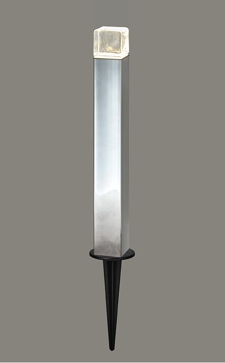 LIXIL 美彩 ローポールライト 角形 透過型 H400 スパイクタイプ LED 12V シャイングレー 驚きの値段で 鏡面 着後レビューで 送料無料 エクステリア照明
