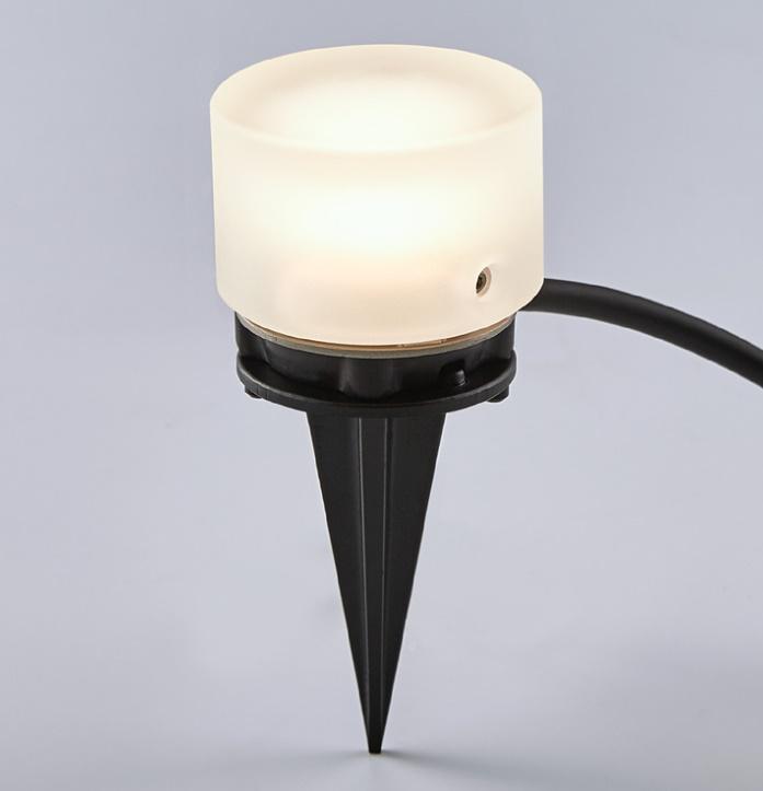 ★LIXIL 美彩 グラスフロアライト 丸形 スパイクタイプ 12V シャイングレー LED エクステリア照明★【送料無料】