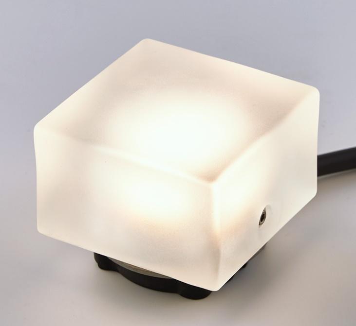 ★LIXIL 美彩 グラスフロアライト 角形 床置タイプ 12V シャイングレー LED エクステリア照明★【送料無料】