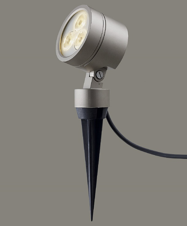 ★LIXIL 美彩 スパイクスポットライト SSP-G3型 45° シャイングレー 12V LED エクステリア照明★【送料無料】