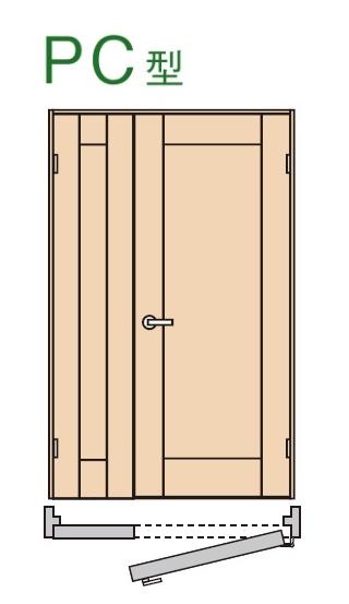 ★内装ドア 親子ドア PC型 【XMJE1PC◇N04R(L)74□ 】 ベリティス パナソニック 室内ドア ★ 【送料無料】