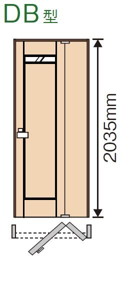 上質感のある 洗練された空間をつくります 内装ドア 折れ戸 DB型 XMJE1DB ふるさと割 N07R L 7△ パナソニック トイレドア 表示錠 ベリティス 室内ドア 洗面所 受注生産品 送料無料 倉庫 トイレ