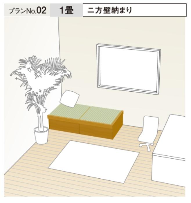 ★畳が丘 プランNo.2 二方壁納まり 1畳 パナソニック 畳 くつろぎ 収納 リフォーム DIY★