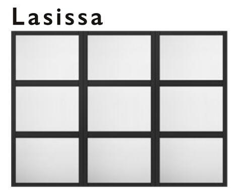 上質感のある 洗練された空間をつくります リクシル デコマド 室内用窓 ラシッサS ASTMDW-○-Z-○-○ FIX窓 突出し窓 送料無料 デポー LIXIL 建具 トステム 両側壁納まり リフォーム W1688mm×H1220mm メーカー直送 2列×3段
