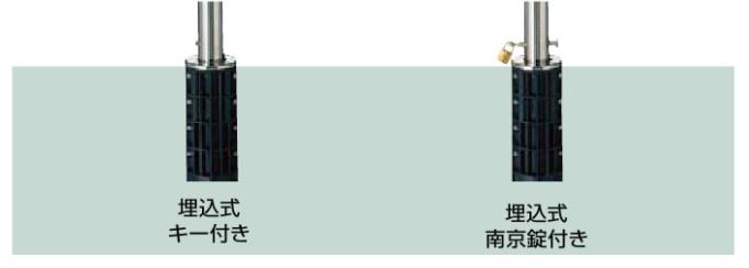 ★LIXIL TOEX スペースガード 車止め 埋込式 キ―付 F48型 取替用 オプションポール★ 【送料無料】