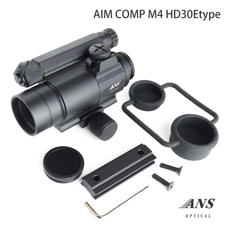 ドットサイト ANS Optical AIM COMP M4タイプ バトラーキャップ付 ドットサイト ダットサイト サバイバルゲーム サバゲー エアガン スコープ