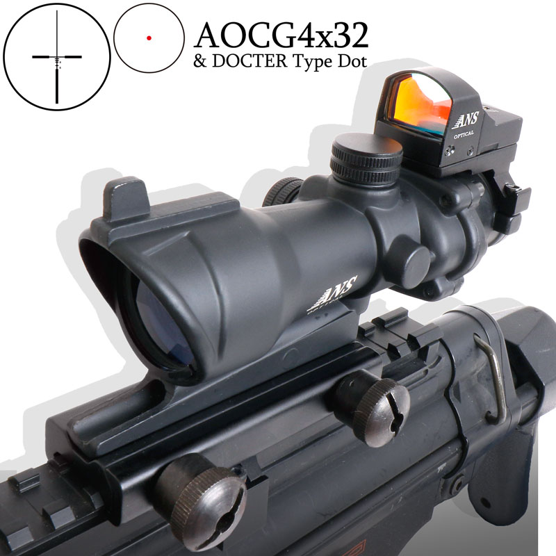 outsider trijicon acog type 4 x 32 scope amp amp doc dot