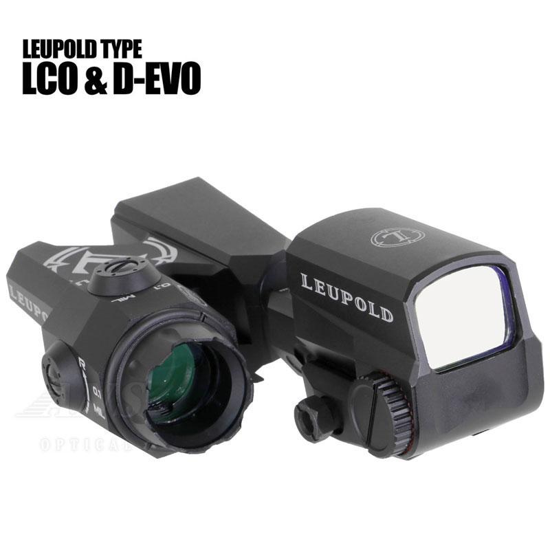 【10%OFFクーポン配布中】ANS Optical LEUPOLD D-EVO タイプ スコープ & LCO タイプ ドットサイト レプリカセット