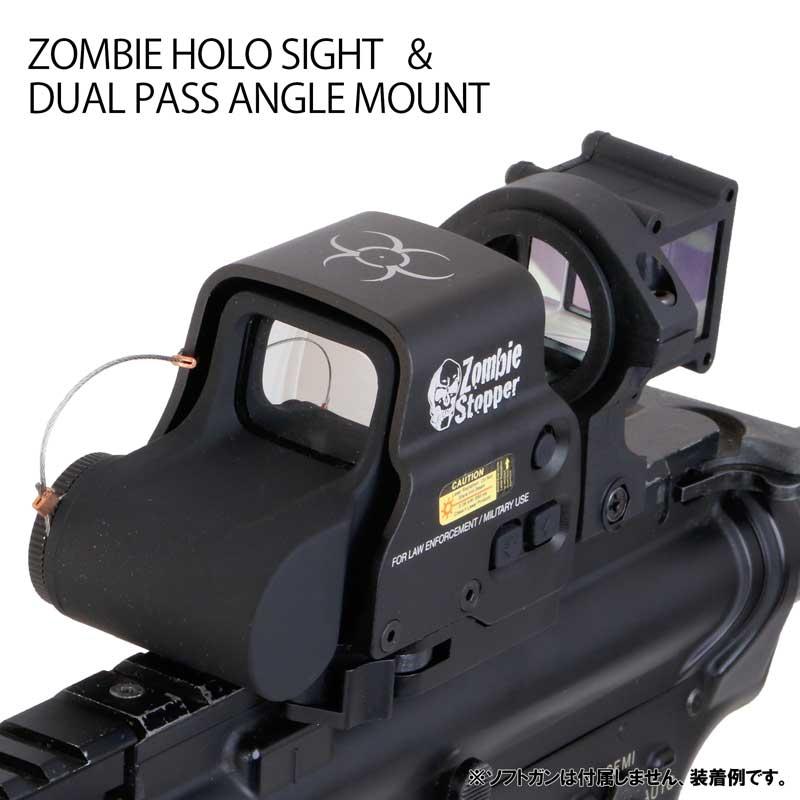 ドットサイト デュアルパス アングルマウント 入手困難 サバゲー サバイバルゲーム 装備 専門 売り出し ANS HD558 Optical ホロサイトデュアルパスマウントセット STOPPER Eo タイプ ZONBIE エアガン