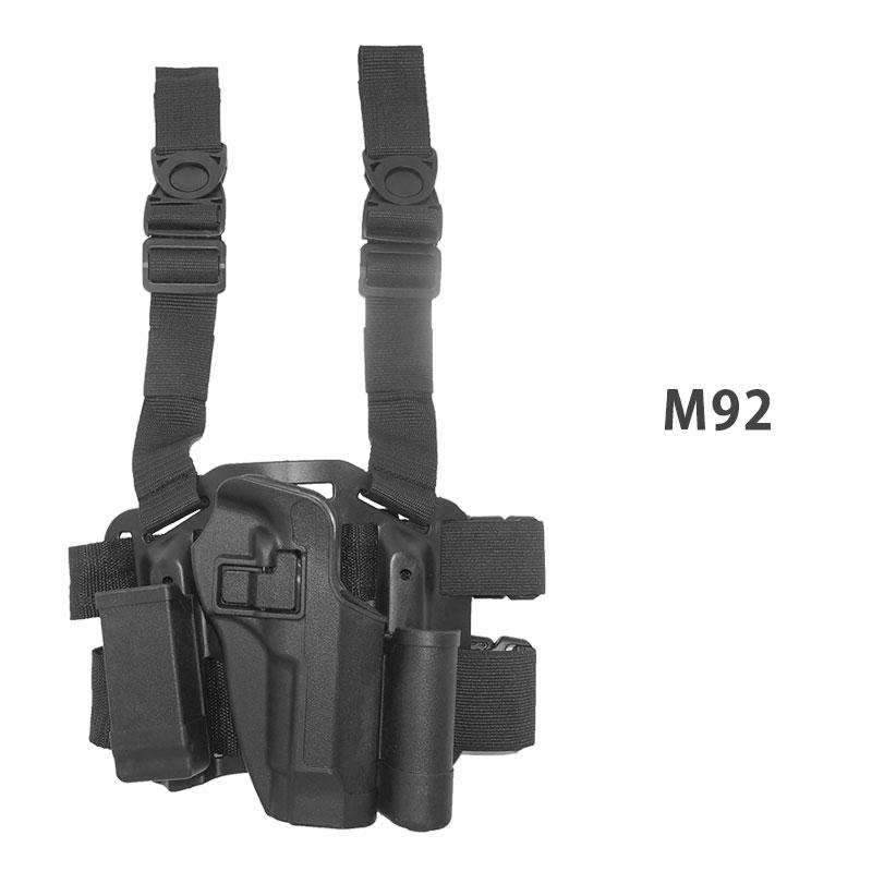 The BLACKHAWK Blackhawk type leg holster pistol handgun set P226 1911 M92  USP Grock GLOCK タクティカルサバゲーサバイバルゲーム equipment