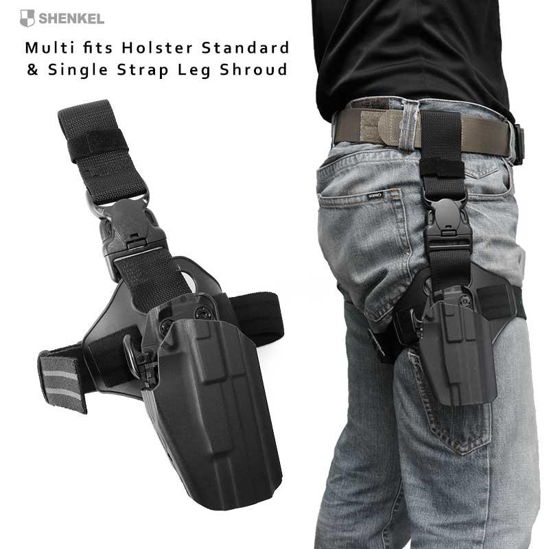 19007589588c62 SHENKEL safari land type multi-fitting holster standard & single leg shroud  (BK black) leg platform panel