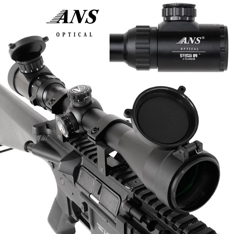 ANS Optical 3-9x40EGB变焦距镜头来福探测仪全部的表面涂层透镜高端型号红/绿/蓝