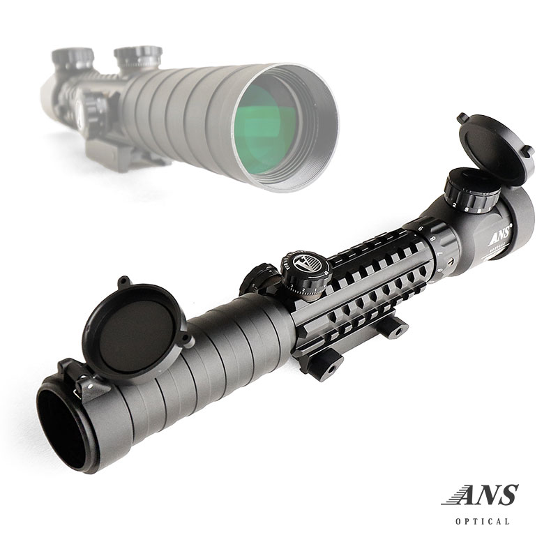 ANS Optical 3-9倍 可変ズーム C 3-9x32 EGB スパイダースコープ イルミネーション イルミネート 窒素充填 実銃対応 ライフルスコープ 20mmレール 20mmレイル スナイパー 電動ガン エアガン サバゲー サバイバルゲーム 装備