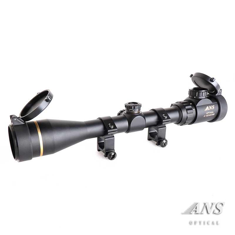 ANS Optical 4-12倍 可変ズーム G4-12x40EGB ライフルスコープ キルフラッシュ インテリジェンス スナイパー スコープ 視度調整可 20mmレール 20mmレイル マウントリング 電動ガン エアガン サバゲー サバイバルゲーム 装備
