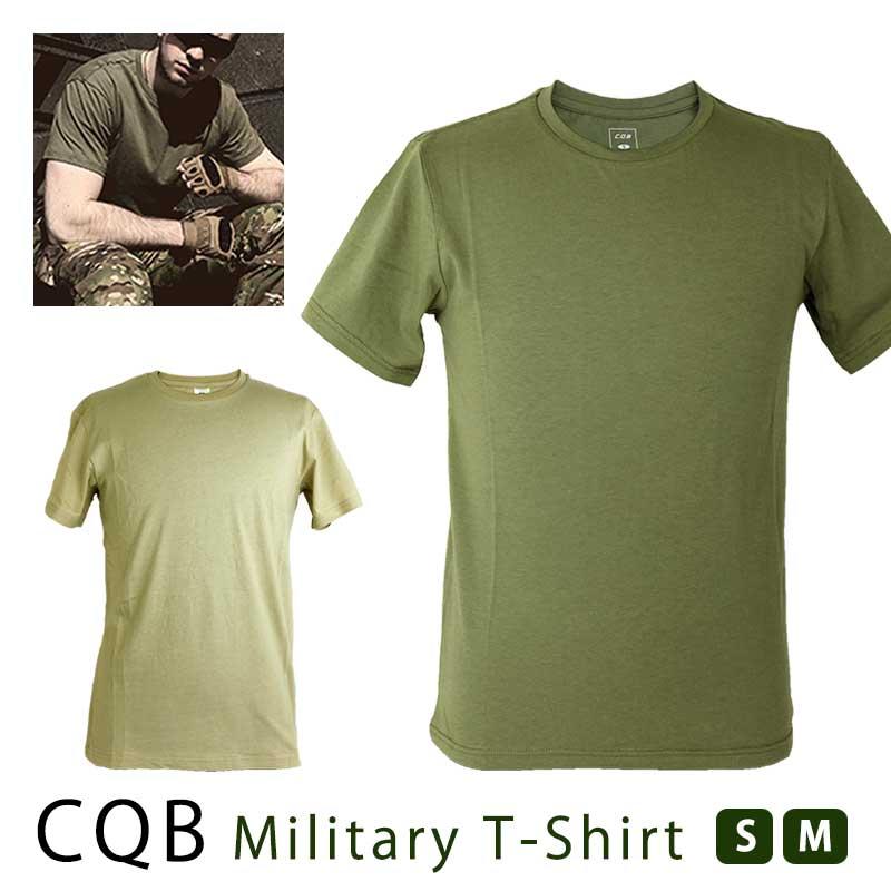8473bff83 SHENKEL CQB plain fabric military T-shirt short sleeves round neck  olive-drab (medium size) 100-percent-cotton round neckline T-shirt men  flexible thin ...