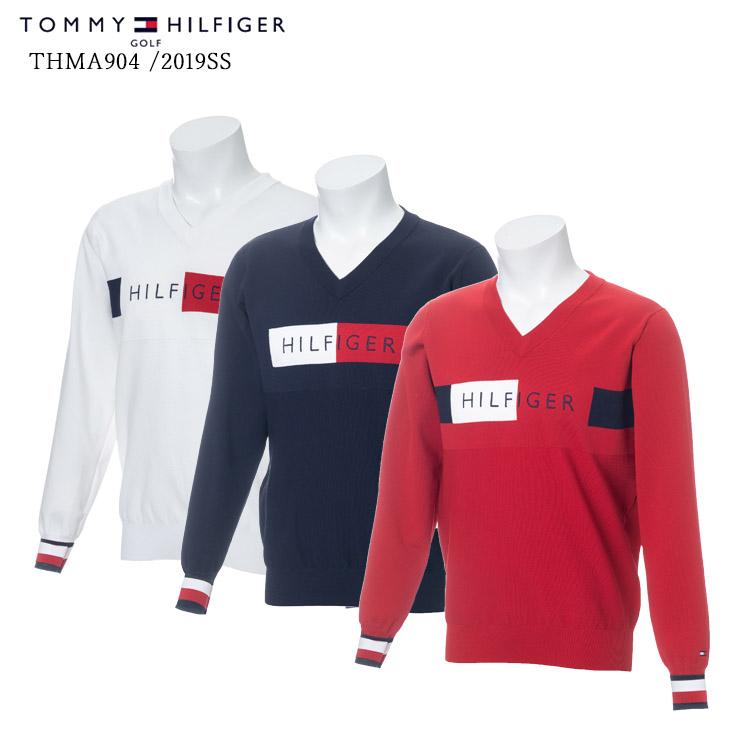 2019春夏/TOMMY_HILFIGER/トミーヒルフィガー/THMA904/V-NECK_KNIT/Vネックニット【05P18Jun16】