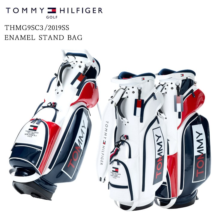 2019SS/TOMMY_HILFIGER/トミーヒルフィガー/THMG9SC3/ENAMEL_STAND_BAG/キャディバッグ【05P18Jun16】
