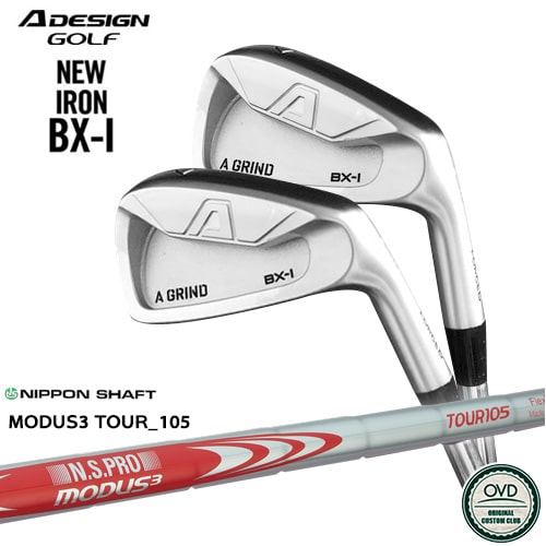 A_GRIND_BX-I_FORGED_IRON/エーデザイン/アイアン6本セット(5I~PW)/N.S.PRO_MODUS3_TOUR_105/日本シャフト/OVDカスタム【05P26Mar16】