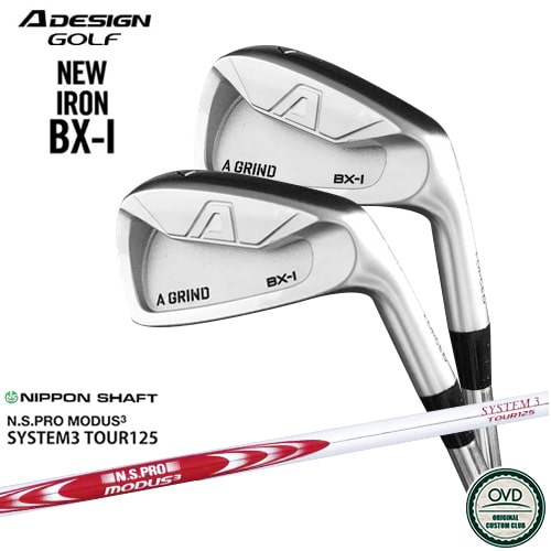 A_GRIND_BX-I_FORGED_IRON/エーデザイン/アイアン6本セット(5I~PW)/N.S.PRO_MODUS3_SYSTEM3_TOUR125/日本シャフト/OVDカスタム【05P26Mar16】
