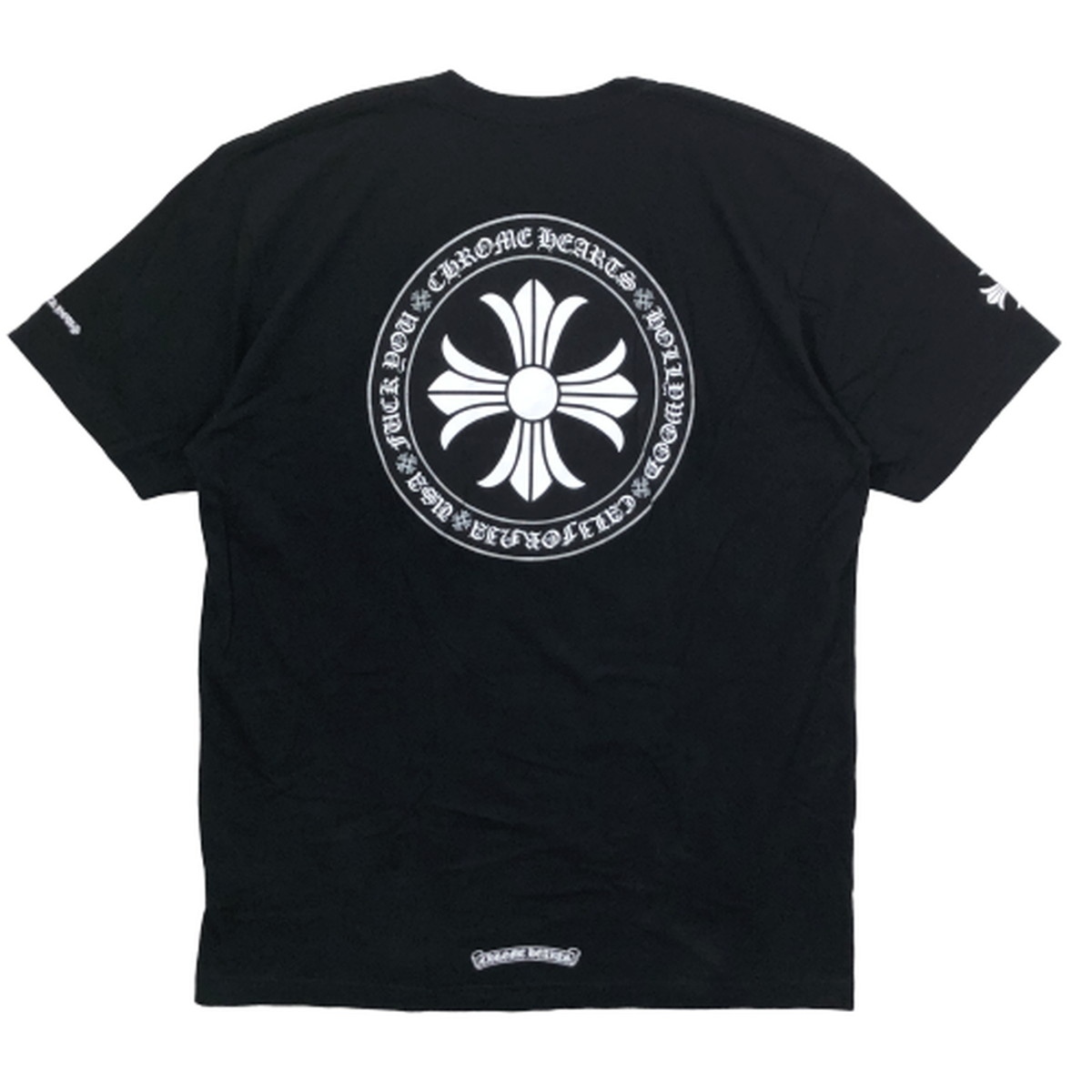【中古】クロムハーツ CHROME HEARTS ポケット Tシャツ CHプラス バックプリント 半袖 XL 国内正規 JPタグ 黒 ブラック BLACK メンズ レディース