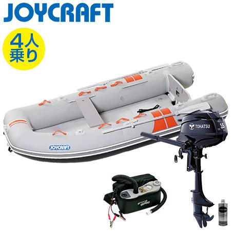 ゴムボート4人乗り 船外機セット ジョイクラフト ココナット303(予備検査付)+トーハツ3.5馬力4ストローク船外機