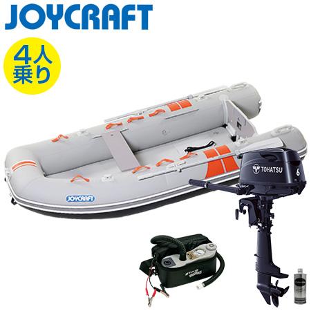 ゴムボート4人乗り 船外機セット ジョイクラフト ココナット303(予備検査付)+トーハツ6馬力4ストローク船外機