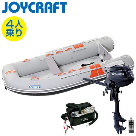 ゴムボート4人乗り 船外機セット ジョイクラフト ココナット303(予備検査付)+トーハツ2馬力4ストローク船外機