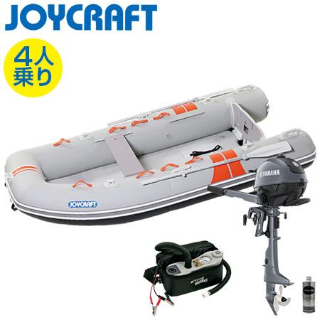 ゴムボート4人乗り 船外機セット ジョイクラフト ココナット303(予備検査付)+ヤマハ2馬力4ストローク船外機