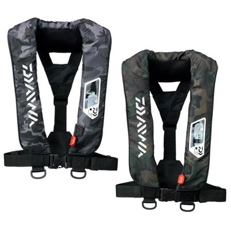 ダイワ(Daiwa) DF-2007 ウォッシャブルライフジャケット (肩掛 手動・自動膨張式)カモ(お取り寄せ)